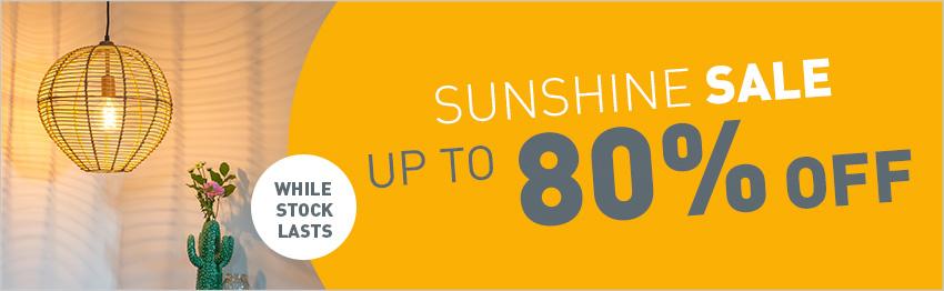 Sunshine sale at lampandlight