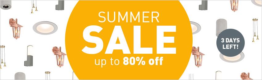 Summer sale at lampandlight!