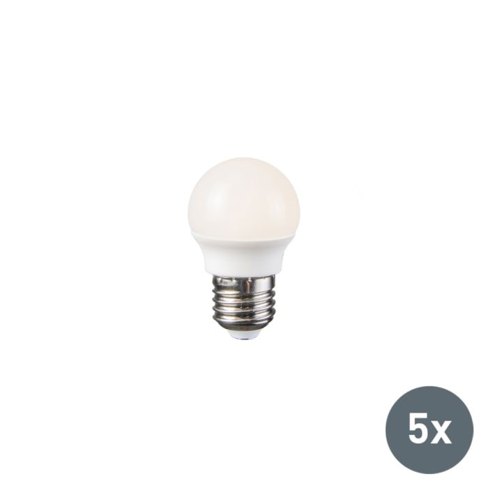 Set-of-5-E27-LED-G45-WW-Bulbs-3.5W
