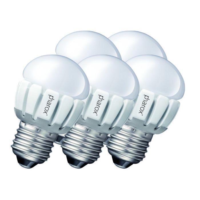 Set-of-5-E27-LED-Pharox-P45-5W-200LM
