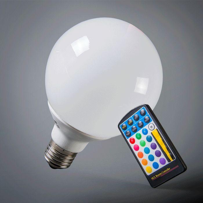 LED-globe-E27-RGB-95mm-including-Remote