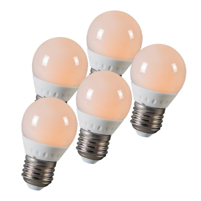 Set-of-5-LED-E27-3W=25W-250-lumen