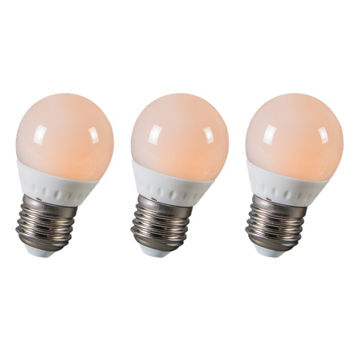 Set-of-3-LED-E27-3W=25W-250LM