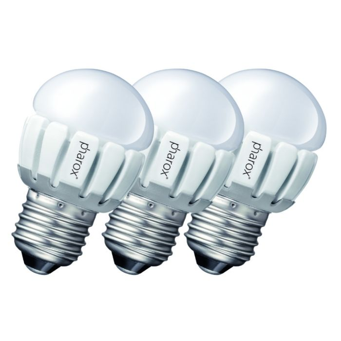 Set-of-3-E27-LED-Pharox-P45-5W-200LM