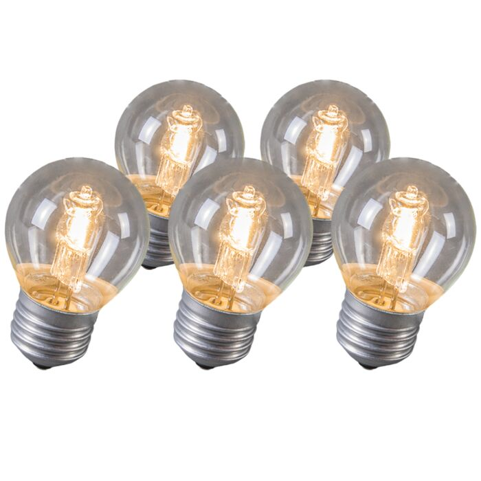 Set-of-5-E27-Halogen-Ball-28W-370LM