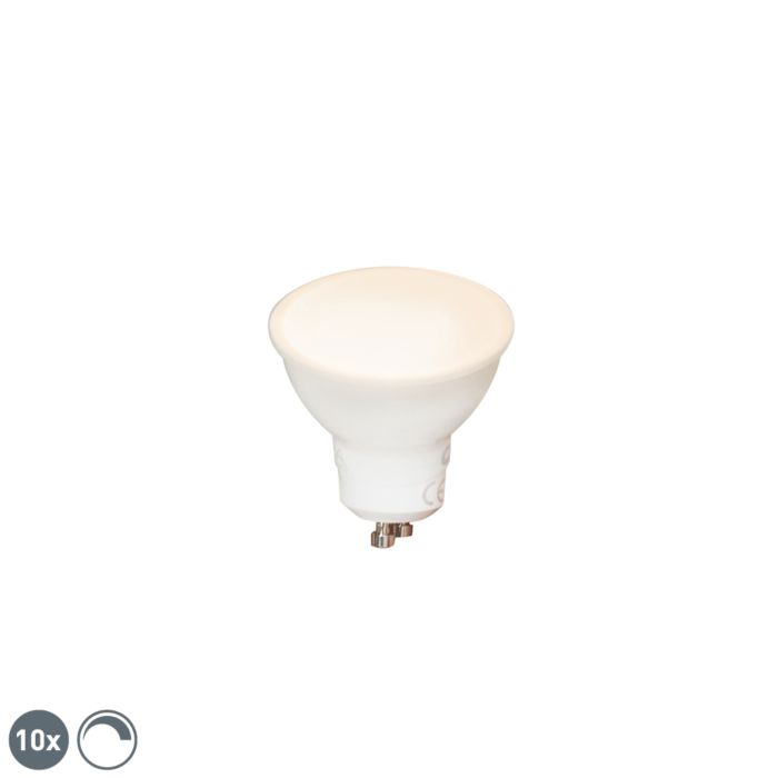 Set-of-10-GU10-dimmable-LED-lamps-6W-450-lm-2700K