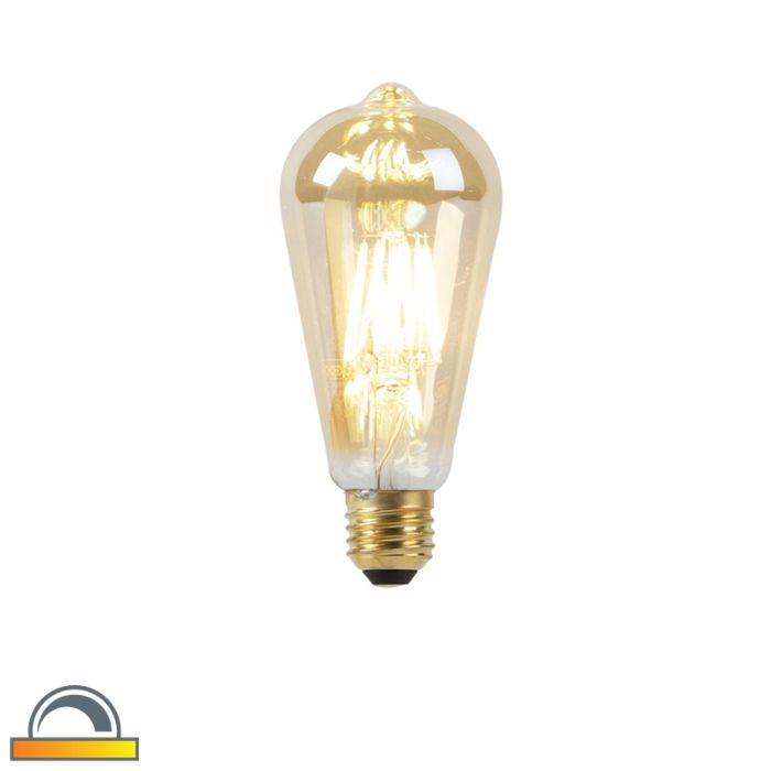 E27-LED-ST64-Goldline-Filament-8W-900LM-2000K-2600K
