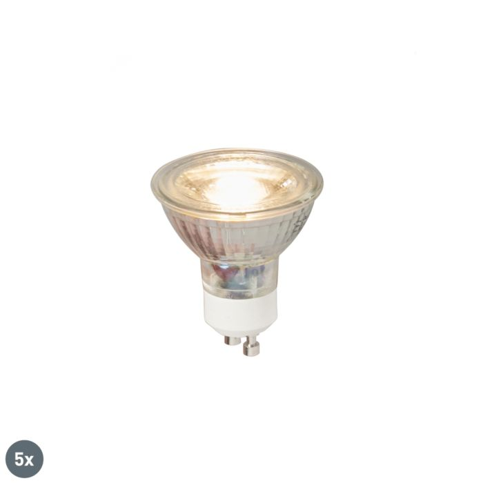 Set-of-5-GU10-LED-lamp-COB-5W-380LM-3000K