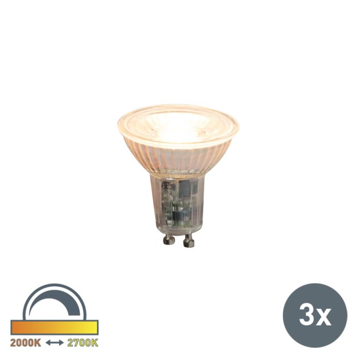 Set-of-3-GU10-dimmable-LED-lamps-5.5W-360lm-2000K---2700K
