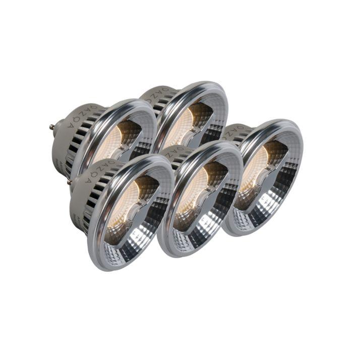 Set-of-5-GU10-LED-AR111-12W-600LM