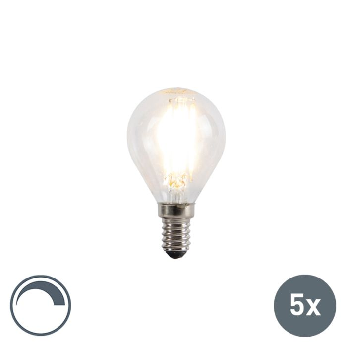 Set-of-5-E14-dimmable-LED-filament-ball-lamps-5W-470lm-2700K