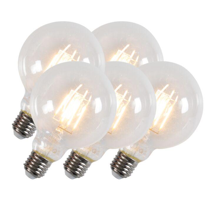 Set-of-5-E27-LED-Filament-G95-6W-600LM