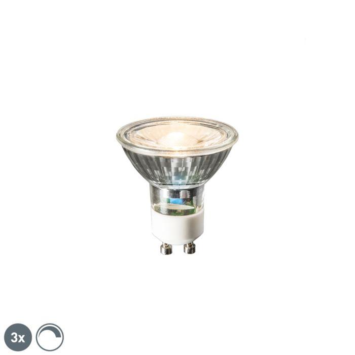 Set-of-3-GU10-LED-lamps-6W-450-lumen-2700K-dimmable