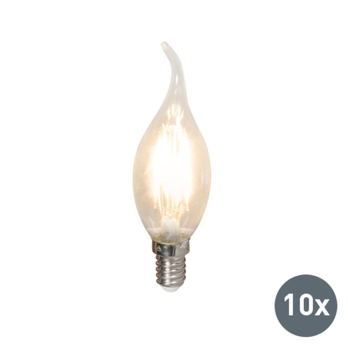 Set-of-10-E14-LED-Filament-Tip-Candle-BXS35-3.5W-350LM