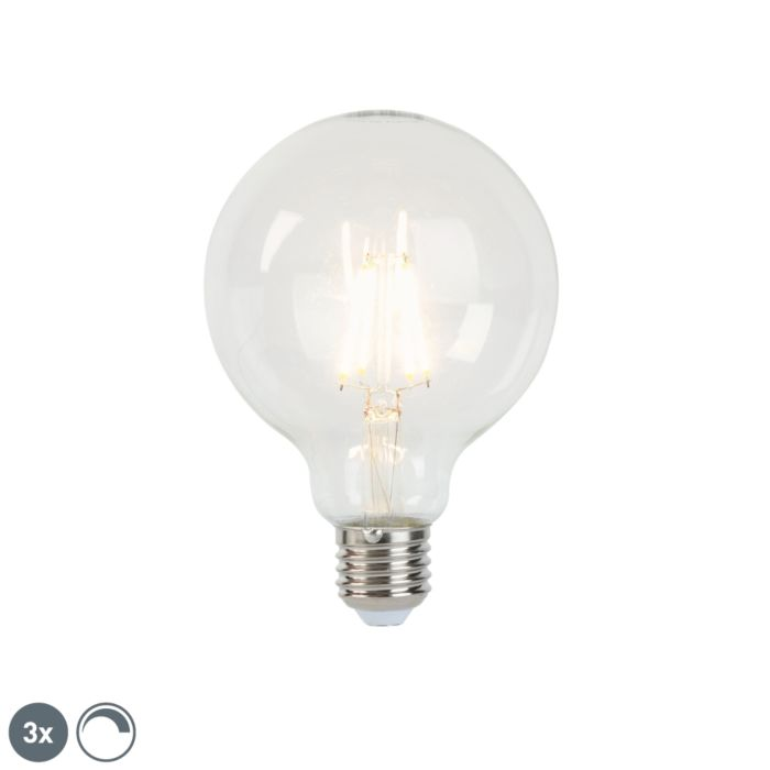 Set-of-3-E27-dimmable-LED-filament-lamps-G95-5W-470-lm-2700K