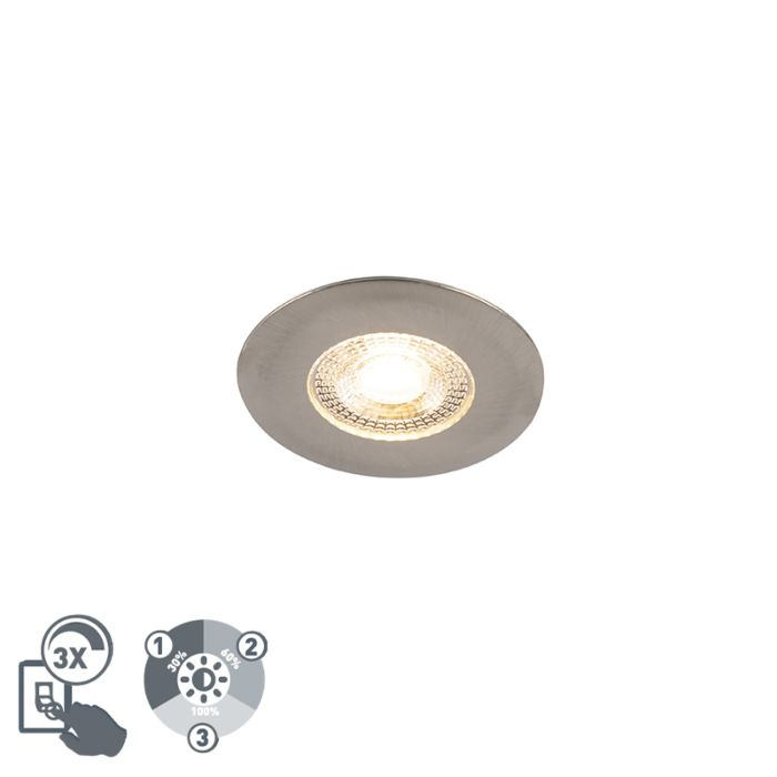 Recessed-spotlight-silver-incl.-LED-3-step-dimmable---Ulo