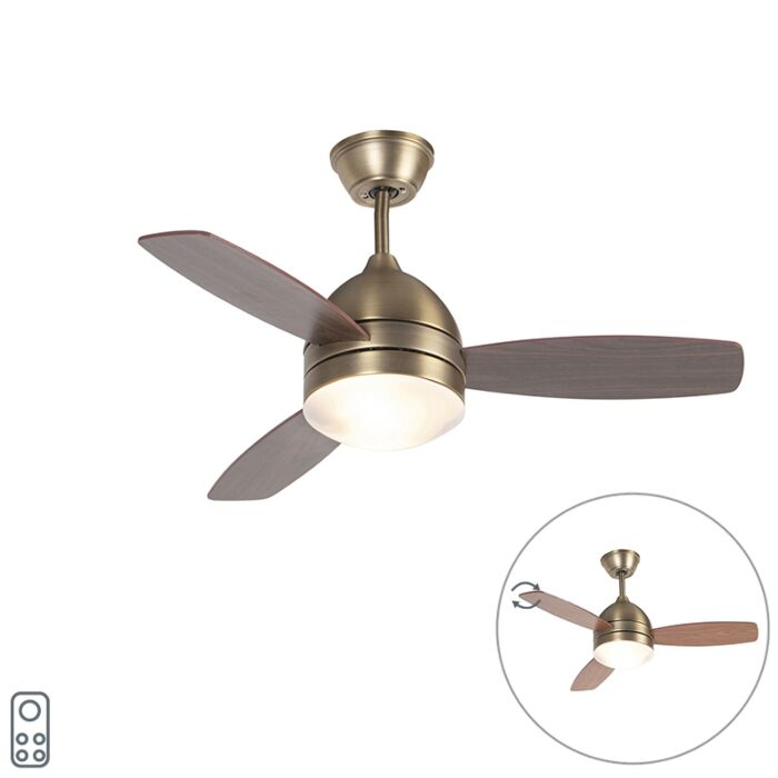 Ceiling-fan-bronze-with-remote-control---Rotar