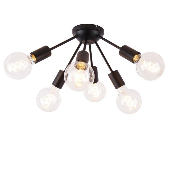 Design-ceiling-lamp-black-30-cm-6-lights---Sputnik