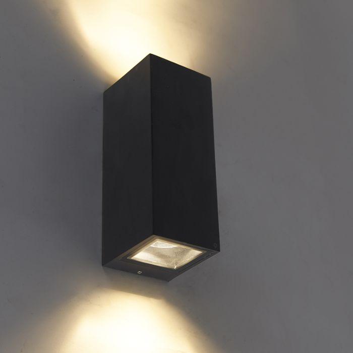 Modern-wall-lamp-black-GU10-AR70-IP54---Baleno-II