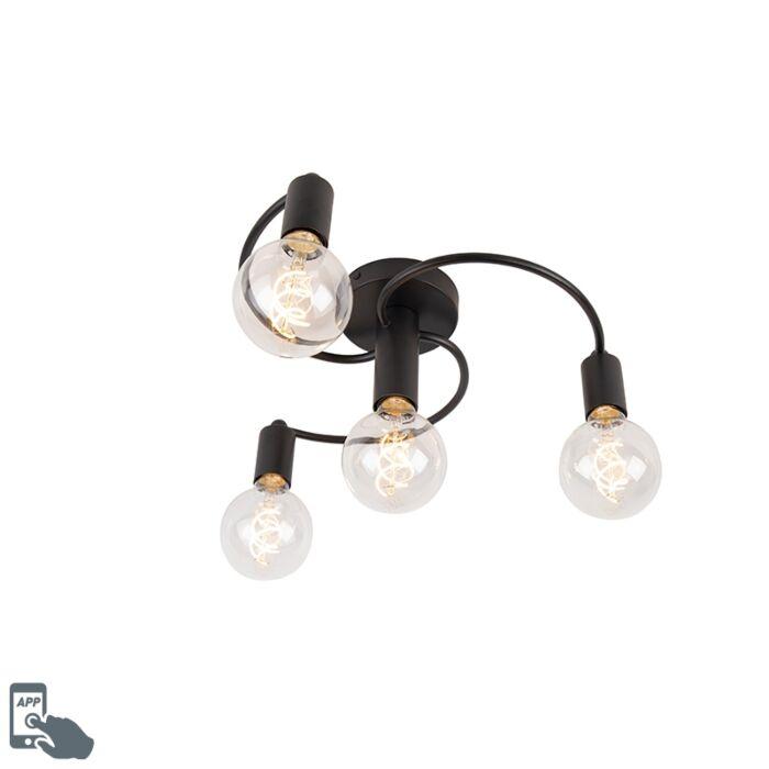 Smart-ceiling-lamp-black-incl.-4-WiFi-G95---Facil