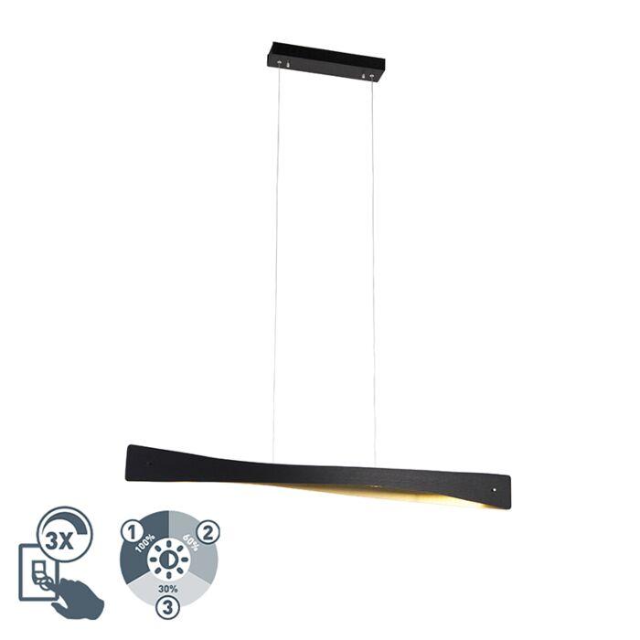 Moderne-hanglamp-zwart-incl.-LED-4-staps-dimbaar---Sjaak