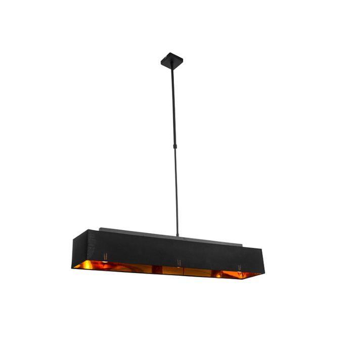 Modern-hanging-lamp-black-with-gold-90-cm-3-light---VT-1