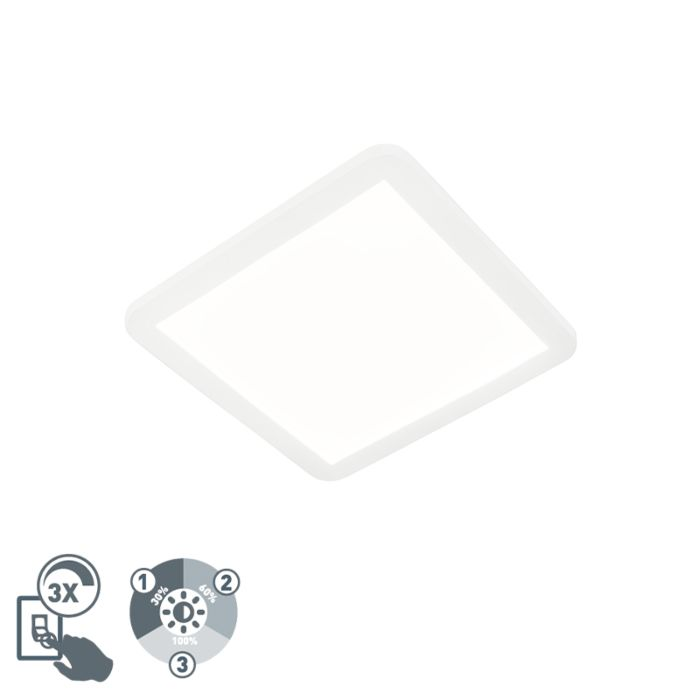 Ceiling-lamp-white-30-cm-incl.-LED-3-step-dimmable-IP44---Steve