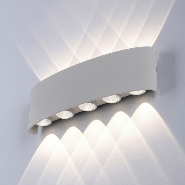 Modern-wall-lamp-gray-27-cm-incl.-LED-IP54---Wendy