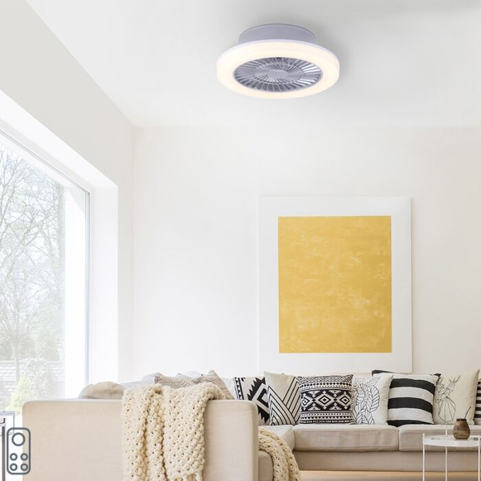Design-ceiling-fan-gray-incl.-LED---Maki