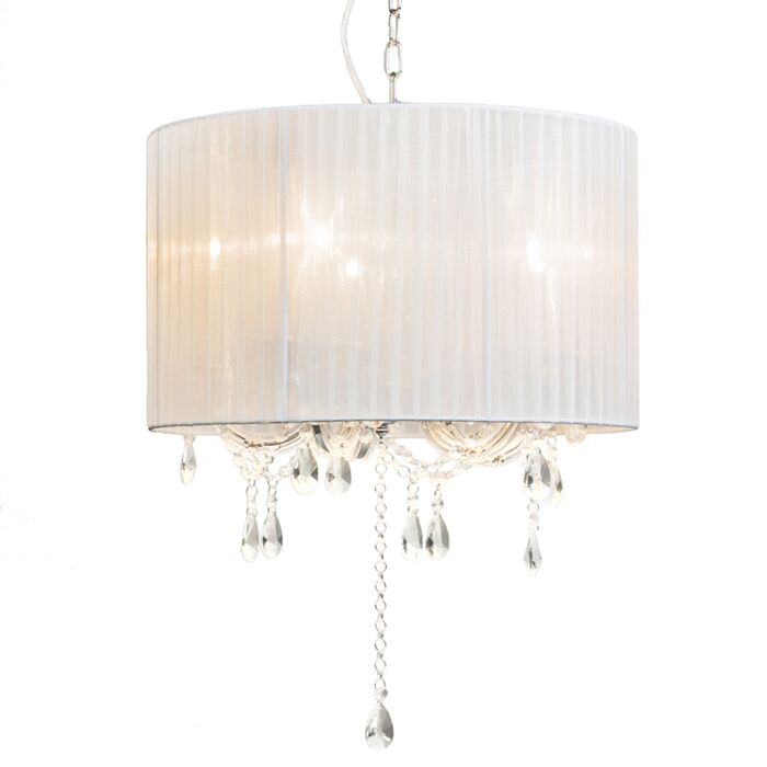 Chandelier-Marie-Theresa-5-with-White-Organza-Shade