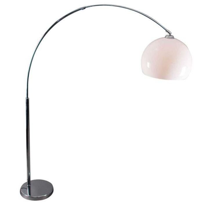 Chrome-arch-lamp-with-white-perspex-shade
