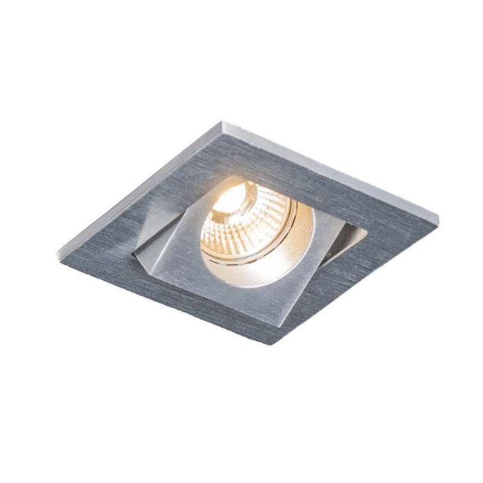 Recessed-Quale-square-aluminium-LED