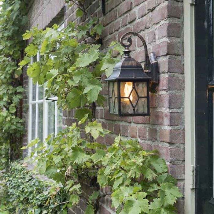 Romantic-outdoor-wall-lamp-bronze---London