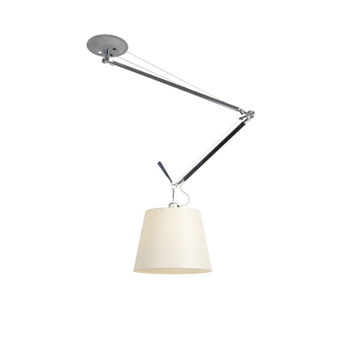 Design-hanging-lamp-with-shade---Artemide-Tolomeo-Sospensione-Decentrata