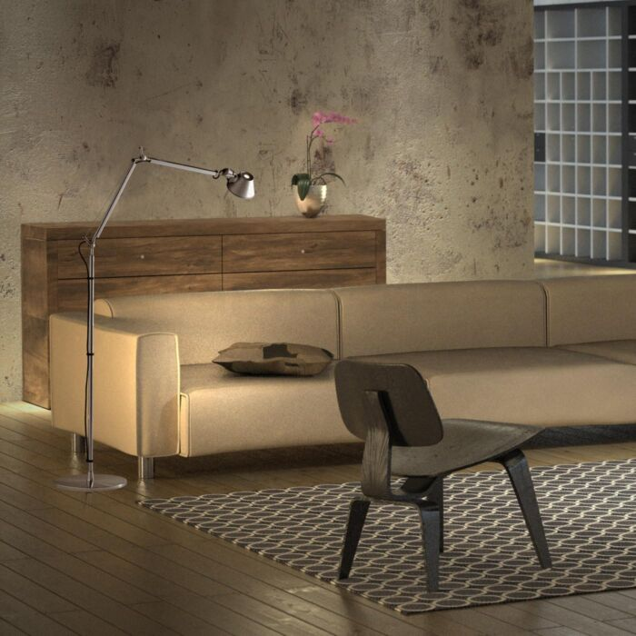 Aluminum-floor-lamp-adjustable---Artemide-Tolomeo-Terra