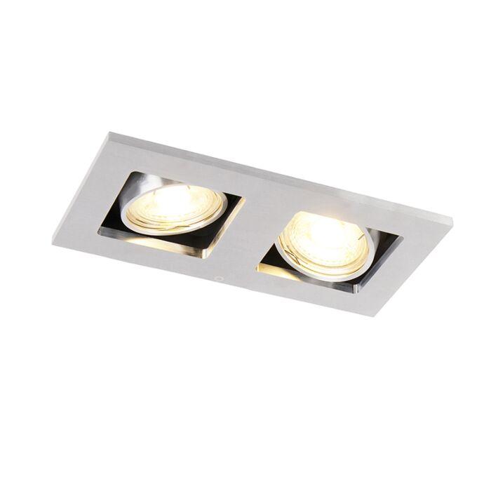 Rectangular-built-in-spot-2-light-aluminum---Qure
