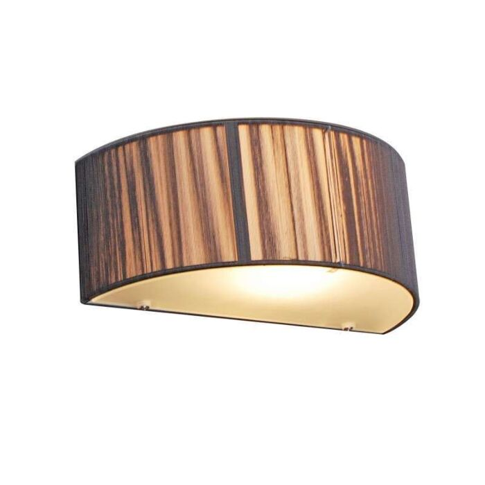 Wall-lamp-drum-rope-half-round-dark-grey