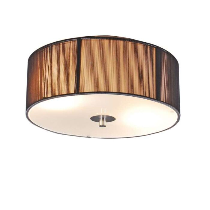 Classic-ceiling-lamp-anthracite-30-cm---Rope