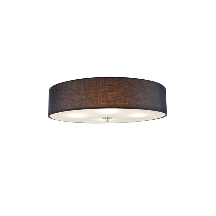 Country-ceiling-lamp-black-50-cm---Drum