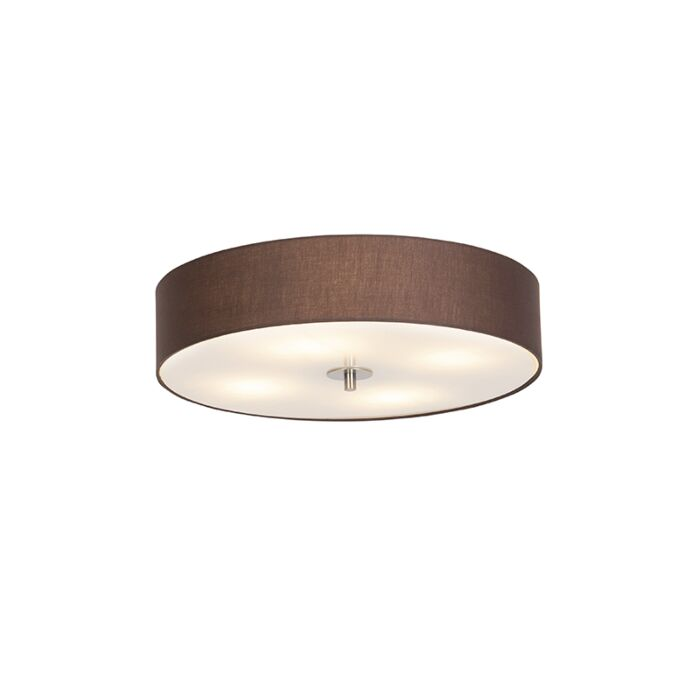Country-ceiling-lamp-brown-50-cm---Drum