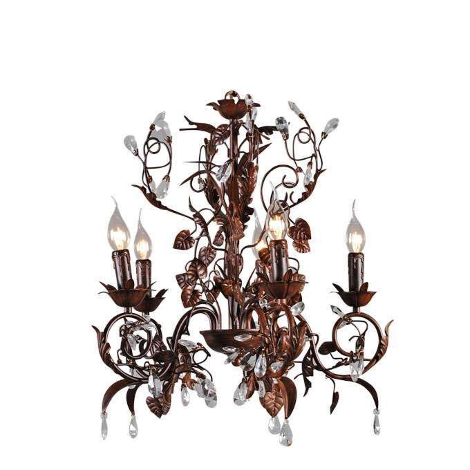 Chandelier-Romance-5-lights-antique-brown