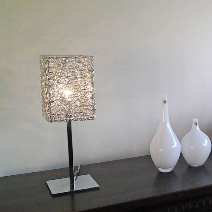 Table-Lamp-Draht-Square-L-Aluminium