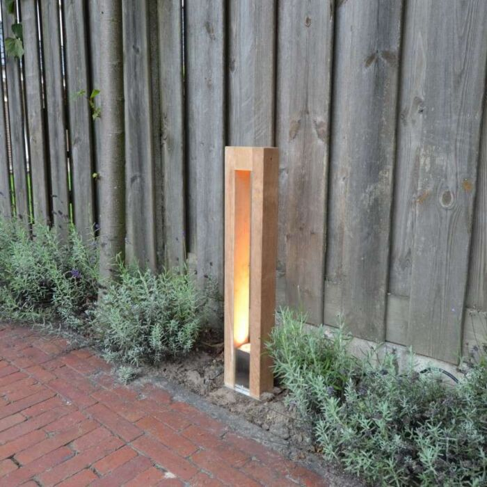Outdoor-Lamp-Pontis-Pole-70-Teak
