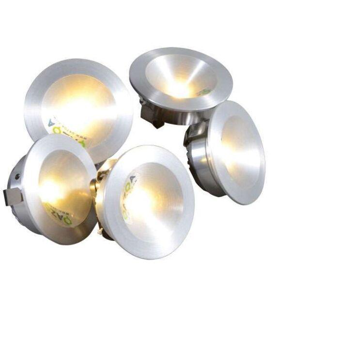 Built-in-Set-Niek-5-x-1W-LED-Aluminium