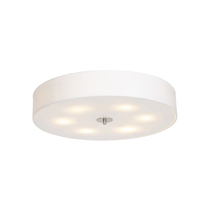 Country-Ceiling-Lamp-70cm-White---Drum