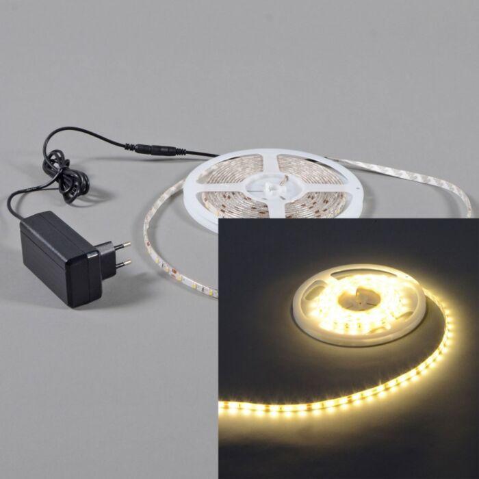 Flexible-warm-white-LED-strip-IP65-3mtr-set