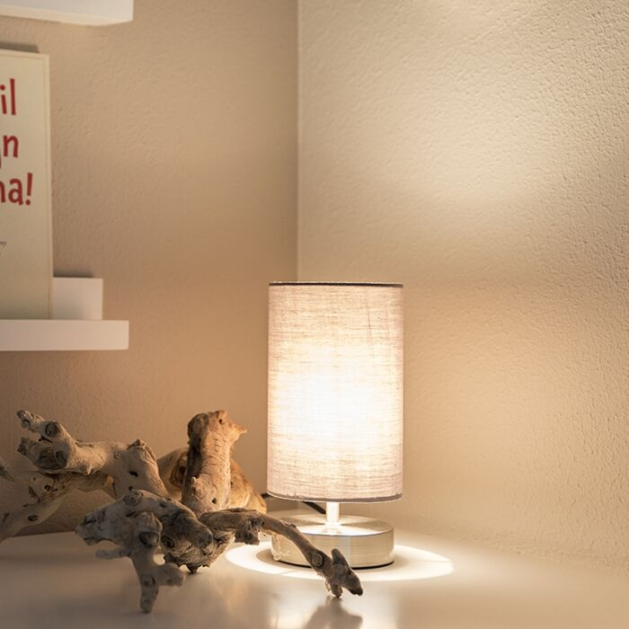 Modern-table-lamp-gray-with-steel---Milo-2