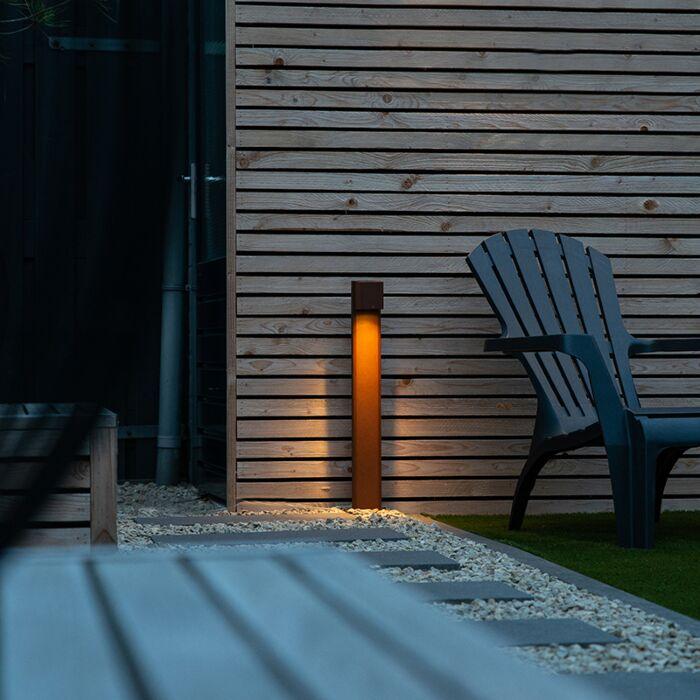 Industrial-Outdoor-Pole-65cm-Rust-Brown-IP44---Baleno-