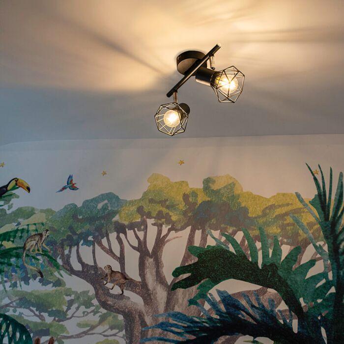 Art-Deco-Adjustable-Spotlight-Black---Mosh-2