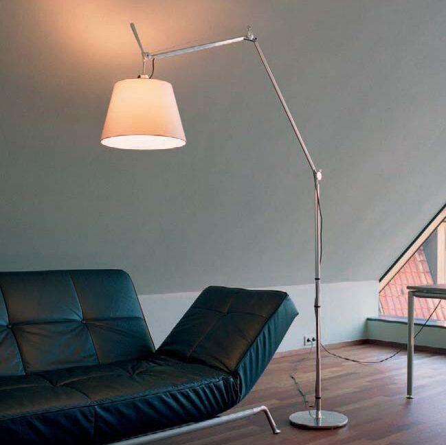 Aluminum-floor-lamp-with-shade---Artemide-Tolomeo-Mega-Terra